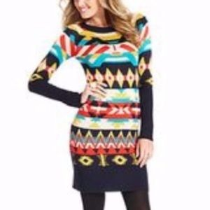 NWOT Jessica Simpson Aztec sweater dress